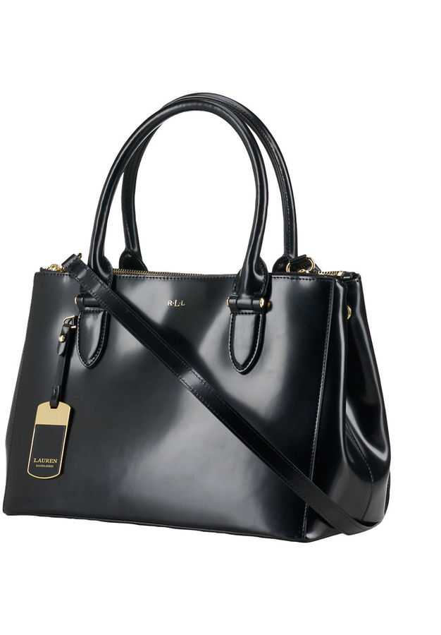 f36a125442 ... Bags Lauren Ralph Lauren Taylor Leather Double Zip Spazzolato Shopper  ...