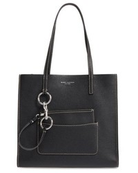 Marc Jacobs The Bold Grind Leather Pocket Tote White