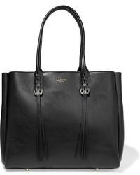 Lanvin The Shopper Small Leather Tote Black