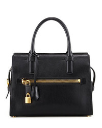 Tom Ford Medium Calfskin Executive Tote Bag Black