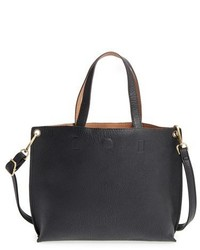 Street Level Junior Reversible Faux Leather Tote Black