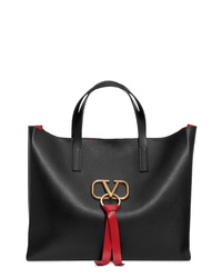 Valentino Garavani V Ring Leather Tote