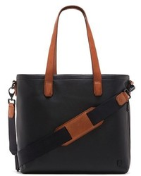 Vince Camuto Tolve Leather Tote Bag Brown