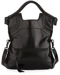 Foley + Corinna Violetta Lady Fold Over Tote Bag Black