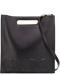 Gucci Xl Leather Tote Bag Black