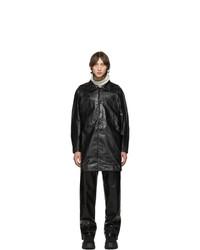 Kiko Kostadinov Black Leather Preston Jacket