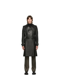 Givenchy Black Leather Trench Coat