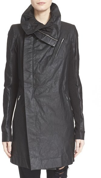 10ec5c4d2 $2,785, Rick Owens Cyclops Leather Trench Biker Jacket