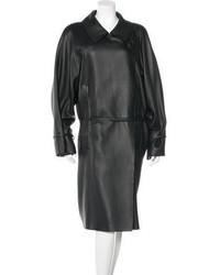 Hermes Herms Cerf Leather Belted Trench Coat