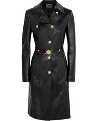 Versace Leather Trench Coat