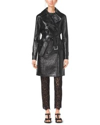 Michael Kors Michl Kors Crackle Patent Leather Trench Coat