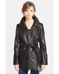 Petite leather trench jacket medium 116305