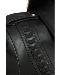 c7da1a5ed1e ... City Chic Plus Size Vinyl Weave Braid Detail Faux Leather Trench Coat