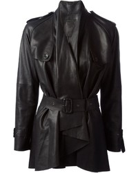 Raw belted waterfall coat medium 116310
