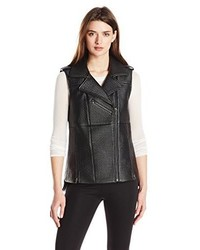 BCBGMAXAZRIA Xander Faux Leather Vest