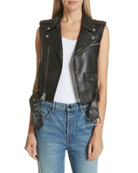 Theory Bedford Vest Faux Leather Moto Vest