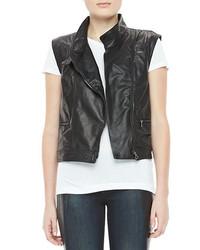 rag & bone/JEAN Leather Zip Moto Vest