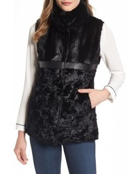 Reversible faux fur faux leather vest medium 4913280