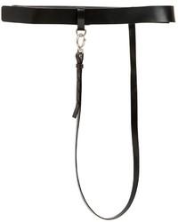 Maison Margiela 35mm High Waist Leather Belt W Strap