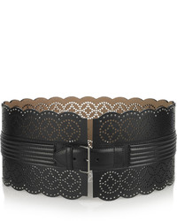 Alaia Alaa Perforated Leather Waist Belt