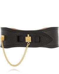 MCQ Alexander Ueen Embellished Textured Leather Waist Belt