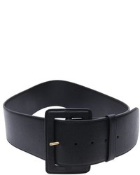 Prada Black Saffiano Leather Wide Waist Belt