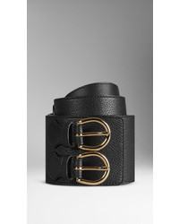 Burberry Buckle Detail Leather Waist Belt