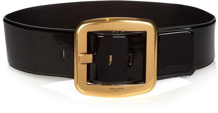 Saint Laurent Carre Patent Leather Waist Belt