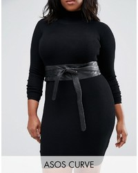 Asos Curve Curve Leather Obi Waist Belt