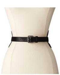 BCBGMAXAZRIA Cutout Sides Buckle Waist Belt