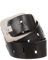 Dolce & Gabbana Dg Leather Logo Waist Belt
