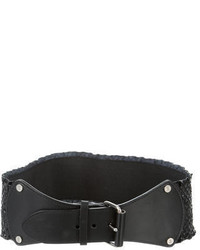 Diane von Furstenberg Embossed Leather Waist Belt