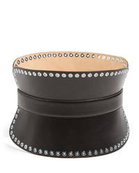 Alexander McQueen Grommet Embellished Leather Waist Belt