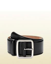 Gucci Black Leather Waist Belt