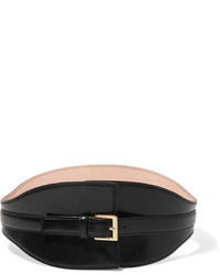 Alexander McQueen Leather Waist Belt Black