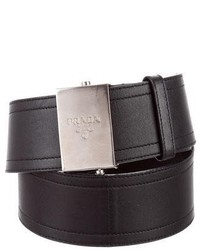 Prada Leather Wide Waist Belt