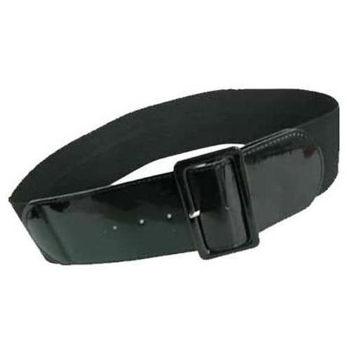 d73e1792ef2ad ... Luxury Divas Black Patent Leather 3 Wide Elastic Corset Waist Belt