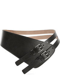 Michael Kors Michl Kors Collection Asymmetric Leather Waist Belt Black