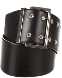Michael Kors Michl Kors Leather Buckle Waist Belt