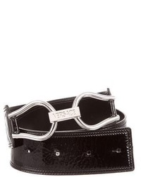 Versace Patent Leather Waist Belt