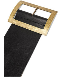 Embellished Textured-leather Belt - Black Philosophy di Lorenzo Serafini k9Z3fRa