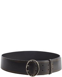 Prada Black Leather Wide Strap Belt