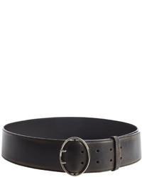 Prada Black Leather Wide Strap Belt