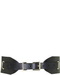 Topshop Premium Leather Wide Waist Belt
