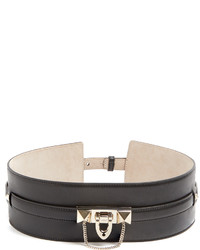Valentino Rockstud Embellished Leather Waist Belt