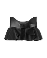 Alexander McQueen Ruffled Leather Waist Belt
