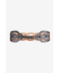 BCBGMAXAZRIA Woven Faux Leather Waist Belt