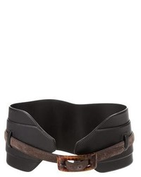 Saint Laurent Yves Leather Waist Belt