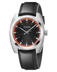 Calvin Klein Achieve Leather Band Watch