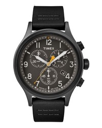 Timex Allied Chronograph Leather Strap Watch